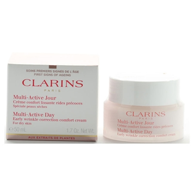 Clarins Multi Active Day Early Wrinkle Correction Cream for Dry Skin 1.7 oz