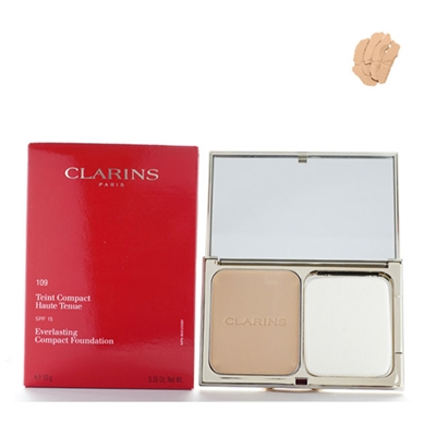 Clarins Everlasting Compact Foundation SPF 15 109 Wheat 0.35 oz / 10g