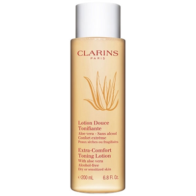 Clarins Extra-Comfort Toning Lotion With Aloe Vera Dry Or Sensitive Skin 6.8oz / 200ml