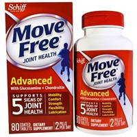 Schiff Move Free Joint Health Advanced With Glucosamine Chondroitin 80 Tablets