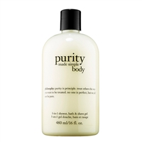 Philosophy Purity Made Simple Body 3-In-1 Shower, Bath, & Shave Gel 16oz / 480ml