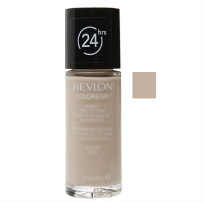 Revlon Colorstay 24hrs Foundation Combination - Oily Skin 110 Ivory 1.0oz / 30ml