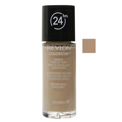 Revlon Colorstay 24hrs Foundation Normal - Dry Skin 180 Sand Beige 1.0oz / 30ml
