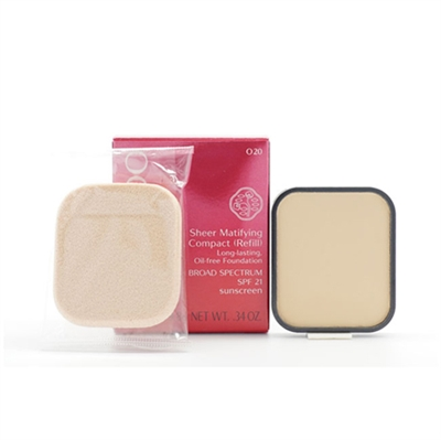 Shiseido Sheer Matifying Compact Refill Long Lasting Oil Free Foundation SPF 21 I00 Very Light Ivory 0.34 oz