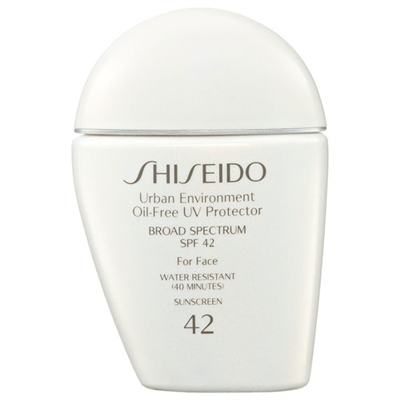 Shiseido Urban Environment Oil Free Protector Broad Spectrum for Face Water Resistant SPF 42 1.0oz / 30ml