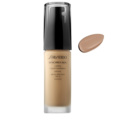 Shiseido Synchro Skin Lasting Liquid Foundation SPF20 Neutral 3 1oz / 30ml