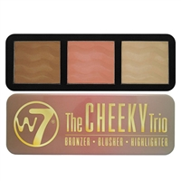 W7 The Cheeky Trio Bronzer, Blusher, & Highlight Palette 0.74oz / 21g