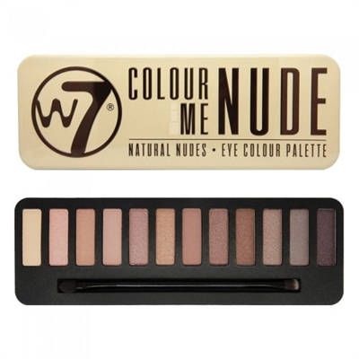 W7 Colour Me Nude: Natural Nudes Eye Colour Palette 0.551oz / 15.6g