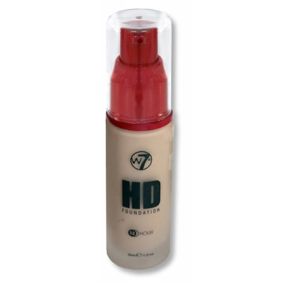 W7 HD Foundation 12 Hour Sand Beige 1.01oz / 30ml