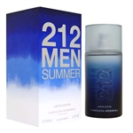 212 Men Summer Limited Edition by Carolina Herrera for Men 3.4 oz Eau De Toilette Spray