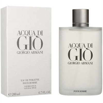 Acqua Di Gio by Giorgio Armani for Men 6.7 oz Eau De Toilette Spray