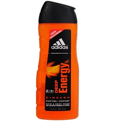 Adidas Deep Energy Ginseng 2 In 1 Hair & Body Wash for Men 13.5oz / 400ml