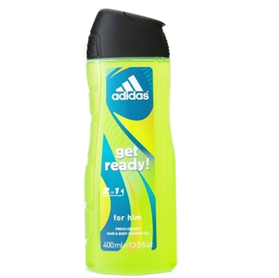 Adidas Get Ready! 2 In 1 Fresh Energy Hair & Body Shower Gel 13.5oz / 400ml