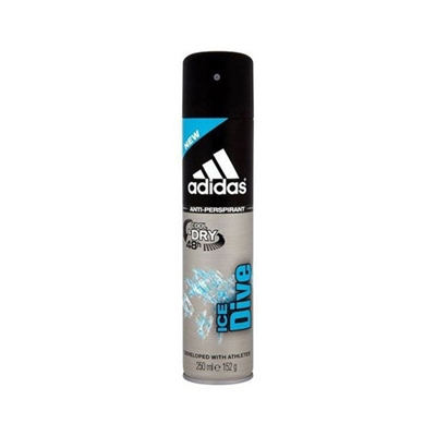 Adidas Ice Dive 48hr Cool & Dry Anti - Perspirant Spray for Men 8.4oz