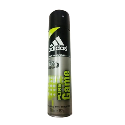Adidas Pure Game 48hr Cool & Dry Anti - Persprirant Spray for Men 8.4oz