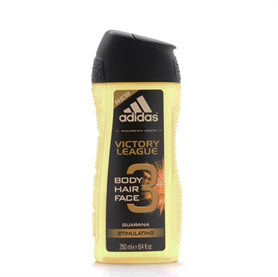Adidas Victory League Guarana Stimulating 3 in 1 Hair, Body, & Face Shower Gel for Men 8.4oz / 250ml