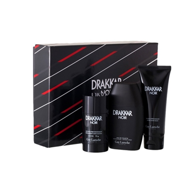 Drakkar Noir by Guy Laroche for Men 3 Piece Gift Set