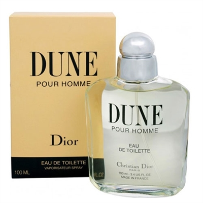 Dune by Christian Dior for Men 3.4 oz Eau De Toilette Spray