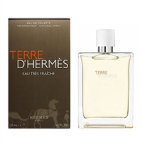Terre D'hermes Eau Tres Fraiche by Hermes for Men 4.2oz Eau De Toilette Spray