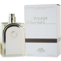 Voyage d'Hermes by Hermes for Men 3.3oz Eau De Toilette Refillable Spray