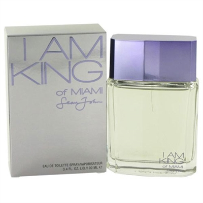 I Am King of Miami by Sean John for Men 3.4 oz Eau De Toilette Spray