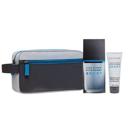 L'eau D'issey Sport Pour Homme by Issey Miyake for Men 3 Piece Gift Set