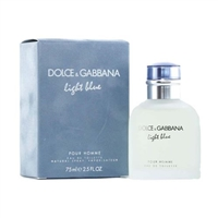 Light Blue by Dolce & Gabbana for Men 2.5 oz Eau De Toilette Spray