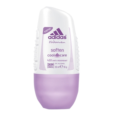 Adidas Soften Cool & Care 48hr Anti-Perspirant Roll On for Women 50ml / 55g