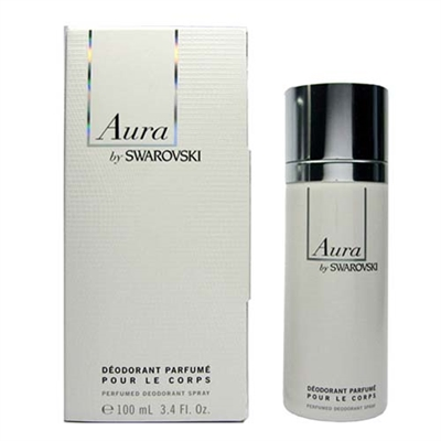 Aura by Swarovski Perfumed Deodorant Spray for Women 3.4oz / 100ml
