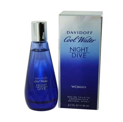 Cool Water Night Dive by Davidoff for Women 2.7oz Eau De Toilette Spray