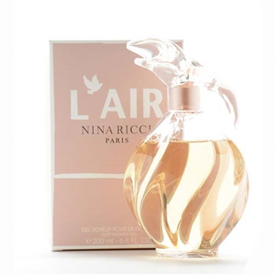 Nina Ricci L'air Silky Shower Gel for Women 6.8oz / 200ml