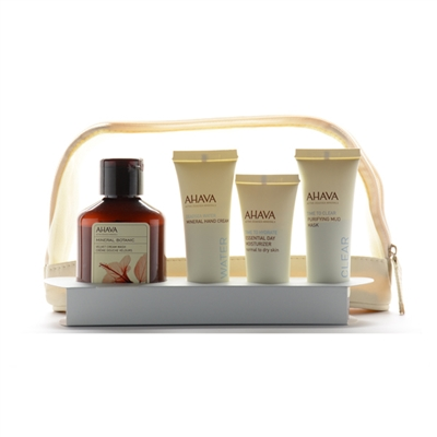 ahava face and body essentials starter kit 4 piece gift set