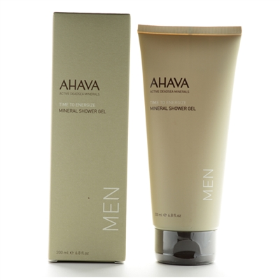Ahava Men Time To Energize Mineral Shower Gel 200ml / 6.8oz