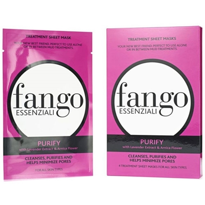 Borghese Fango Essenziali Purify Treatment Sheet Masks 4pc All Skin Types 0.83oz / 25ml