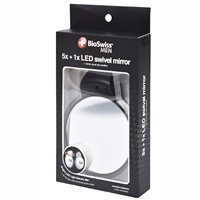BioSwiss 2-Sided LED Light-Up Mirror