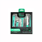 ManMade 5 Piece Manicure Set With Travel Case (Colors May Vary)