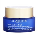 Clarins Multi-Active Nuit Revitalizing Night Cream Normal - Dry Skin 1.7oz / 50ml