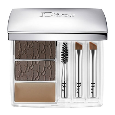 Christian Dior All-In-Brow 3D Backstage Pros Long-Wear Brow Contour Kit 001 Brown 0.26oz / 7.5g