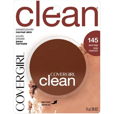 Covergirl Clean Pressed Powder Normal Skin 145 Warm Beige 0.39oz / 11g