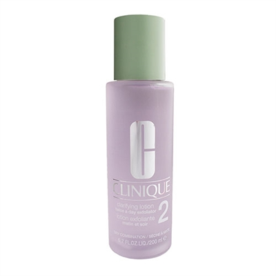Clinique Clarifying Lotion Twice A Day Exfoliator #2 Dry Combination Skin 6.7oz / 200ml