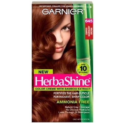 New Hair Color Again Garnier Herbashine Copper Mahogany Brown Amber