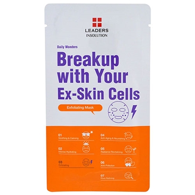 Leaders Insolution Daily Wonders Breakup With Your Ex-Skin Cells Exfoliating Mask 10 Sheets
