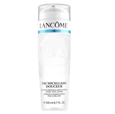 Lancome Eau Micellaire Douceur Express Cleanser Water Face, Eyes, Lips 6.7oz / 200ml