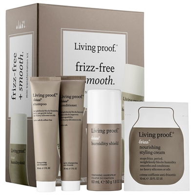 Living Proof Frizz-Free + Smooth Mini Transformation 4pc Kit