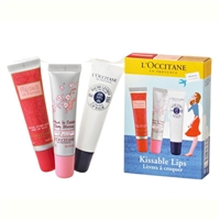 L'Occitane Kissable Lips 3 Piece Set