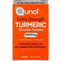 Qunol Extra Strength Tumeric Ultra High Absorption 30 Softgels