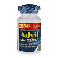 Advil Liqui-Gels Pain Reliever Fever Reducer 180 Count Liquid Filled Capsules