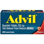 Advil Pain Reliever Fever Reducer 200 Coated Tablets