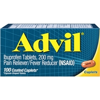 Advil Pain Reliever Fever Reducer 100 Coated Caplets