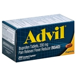 Advil Pain Reliever Fever Reducer 200 Coated Caplets